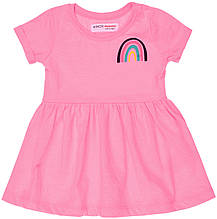 Летнее детское розовое платье для девочки  9-12 месяцев