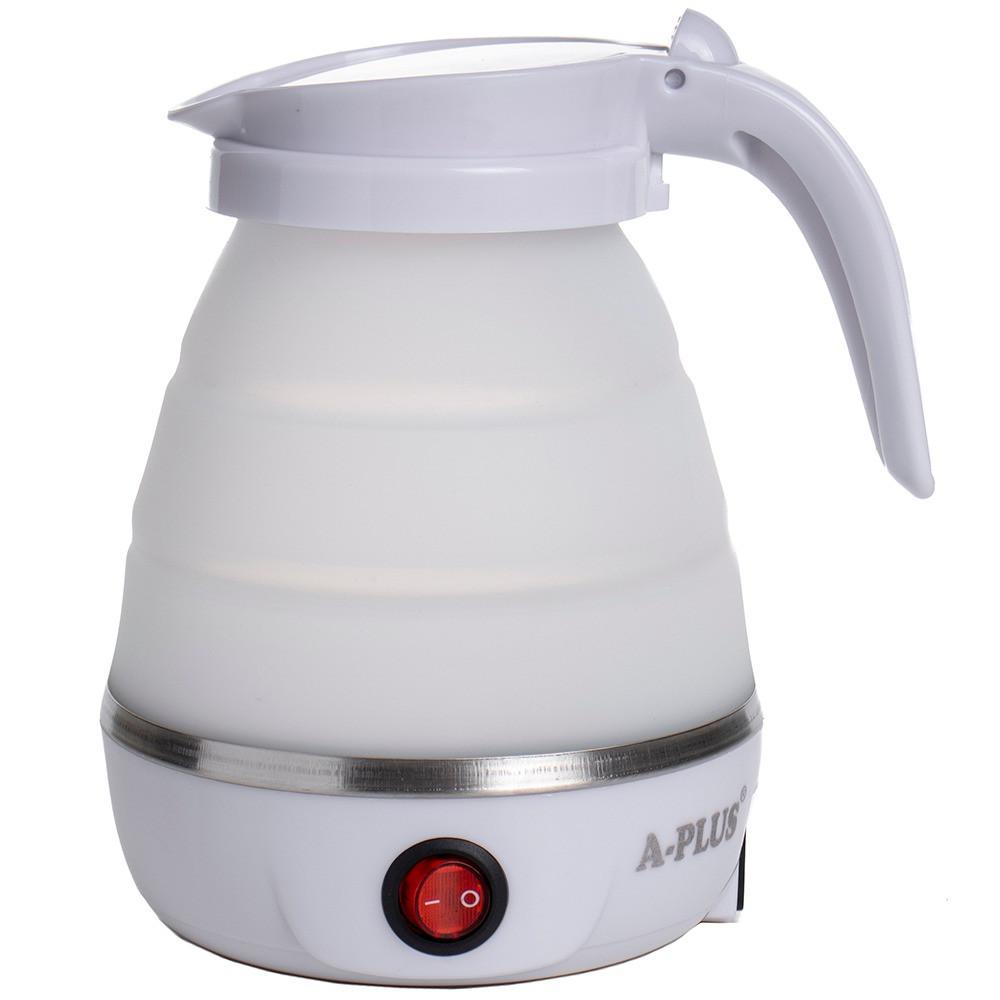 Дорожный силиконовый Электро-чайник А-Плюс WDL-09B 600 мл (Белый) маленький электрический (ST)