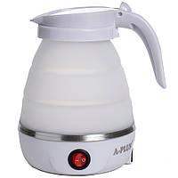 Дорожный силиконовый Электро-чайник А-Плюс WDL-09B 600 мл (Белый) маленький электрический (TI)