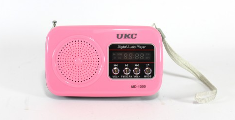 Колонка мобильная, портативная акустика. Приёмник UKC MD 1300 FM/USB/SD