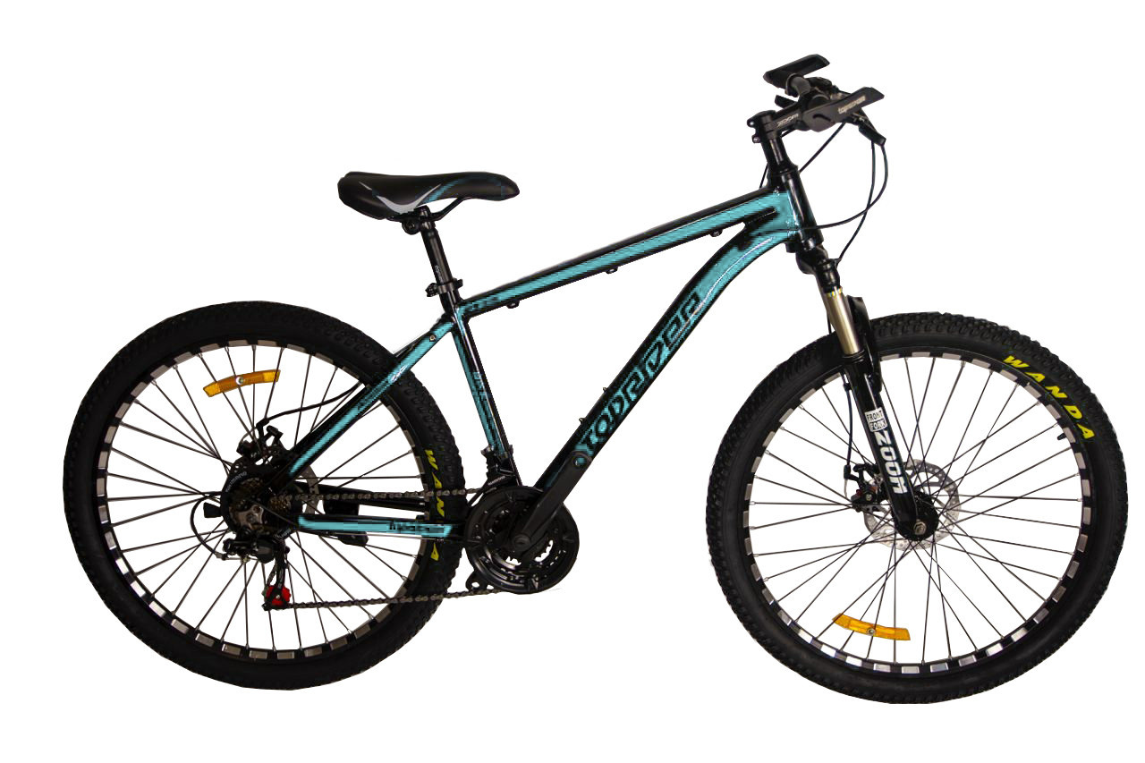 """Горный велосипед TopRider 680 R26"""" 17"""" алюминиевый с дисковыми тормозами (Бирюзовый)"""