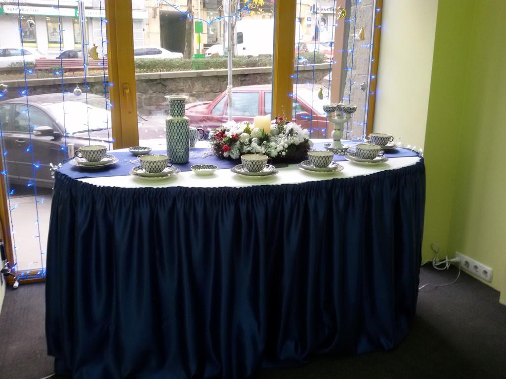 Оформление стола к новому году.