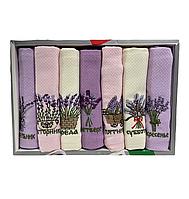 Набір вафельних рушників Nilteks бавовна 40-60 см 7 шт. бузкові, фото 1