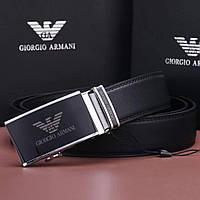 Ремень мужской пряжка автомат черный от Giorgio Armani