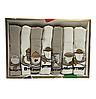 Набір вафельних рушників Nilteks бавовна 40-60 см 7 шт. бежеві
