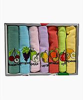 Набор вафельных полотенец Nilteks хлопок 40-60 см 7 шт. разноцветные, фото 1