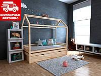 Детская кровать-домик Китти 70*140 с ящиками Щит БУКа, фото 1