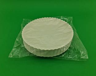 Тарелка бумажная белая D-25.5 см (50)*1 (50 шт)