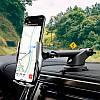Автомобильный держатель телефона с беспроводной зарядкой, Автодержатель с раздвижным механизмом Hoco S14, фото 6