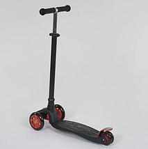 Трехколесный детский самокат с наклонным поворотом руля (светящийся и с регулировкой руля) Best Scooter Maxi, фото 2