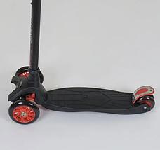 Трехколесный детский самокат с наклонным поворотом руля (светящийся и с регулировкой руля) Best Scooter Maxi, фото 3