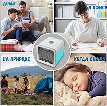 Переносной мини кондиционер Arctic Air, Мобильный портативный USB охладитель воздуха для дома и в машину 4 в 1, фото 2