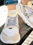 Женские кроссовки Adidas Nite Jogger (white/beige) Реплика ААА, фото 9