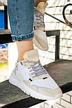 Женские кроссовки Adidas Nite Jogger (white/beige) Реплика ААА, фото 3