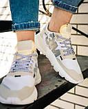 Женские кроссовки Adidas Nite Jogger (white/beige) Реплика ААА, фото 8