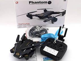 Радіокерований квадрокоптер з камерою Phantom d5hw, Літаючий селфи дрон c відеокамерою FPV, Wifi RC Drone, фото 3