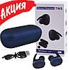 Бездротові вакуумні навушники TWS DT-1, Bluetooth гарнітура з мікрофоном для смартфона і спорту, Сині, фото 6