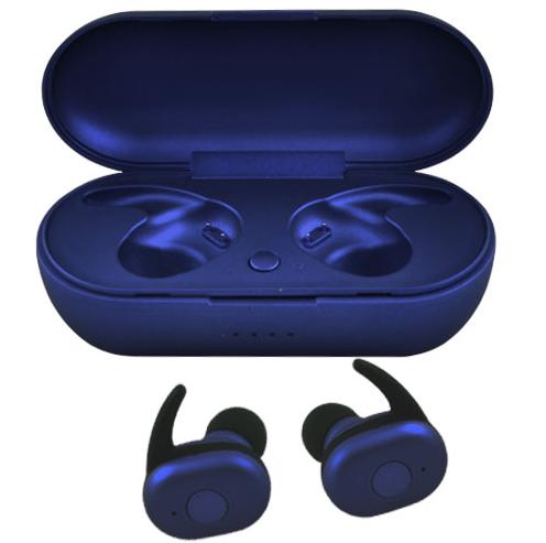Бездротові вакуумні навушники TWS DT-1, Bluetooth гарнітура з мікрофоном для смартфона і спорту, Сині