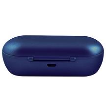 Беспроводные вакуумные наушники TWS DT-1, Bluetooth гарнитура с микрофоном для смартфона и спорта, Синие, фото 2