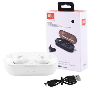 Бездротові сенсорні вакуумні навушники JBL TWS 4, Bluetooth гарнітура з мікрофоном для телефону, Білий