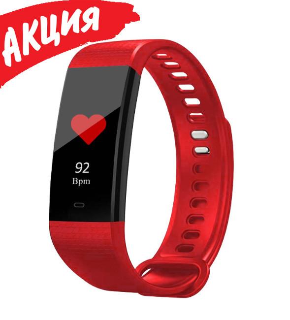 Фітнес браслет трекер Smart Band Y5, Розумні спортивні сматр годинник для здоров'я з тонометром, крокоміром