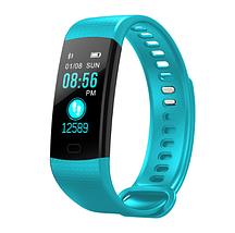 Фітнес браслет трекер Smart Band Y5, Розумні спортивні сматр годинник для здоров'я з тонометром, крокоміром, фото 3