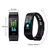 Фітнес браслет трекер Smart Band Y5, Розумні спортивні сматр годинник для здоров'я з тонометром, крокоміром, фото 6