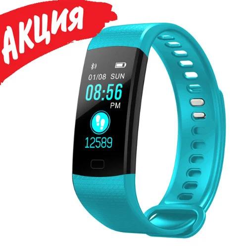 Фитнес браслет трекер Smart Band Y5, Умные спортивные смарт часы для здоровья с тонометром, шагомером IP67