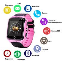 Дитячі розумні смарт годинник c GPS Q528, Smart baby watch з камерою, прослуховуванням, Годинник-телефон для, фото 2