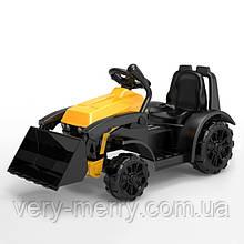 Дитячий електромобіль-Трактор з ковшем (жовтий колір) з пультом дистанційного управління 2,4 G