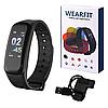 Фітнес браслет трекер Smart Band C1, Розумні спортивні сматр годинник для здоров'я з тонометром, крокоміром, фото 6