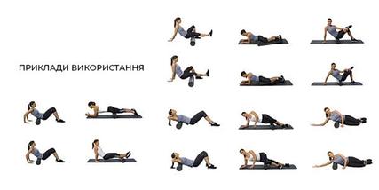 Массажный гладкий ролик для тела, Круглый валик-массажер, роллер для фитнеса и йоги, спины, шеи 4FIZJO 45x14см, фото 3