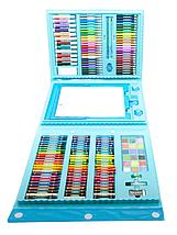 Набір для малювання 208 предметів з мольбертом для дітей, Великий дитячий подарунковий валізку творчості, фото 3