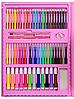 Набір для малювання 208 предметів з мольбертом для дітей, Великий дитячий подарунковий валізку творчості, фото 4