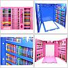Набір для малювання 208 предметів з мольбертом для дітей, Великий дитячий подарунковий валізку творчості, фото 6