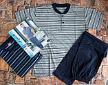 Трикотажная мужская пижама футболка с шортами, фото 3