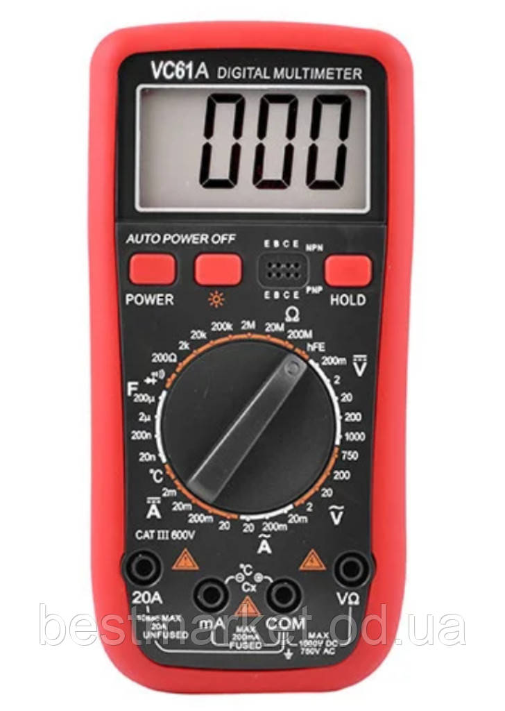 Мультиметр Тестер Цифровой VC 61А