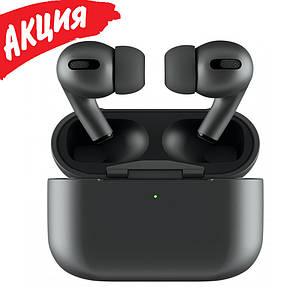 Навушники Епл Airрods Pro, Бездротові вакуумні Bluetooth навушники для Iphone, Люкс копія 1в1 з кейсом Чорні