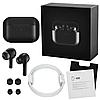 Навушники Епл Airрods Pro, Бездротові вакуумні Bluetooth навушники для Iphone, Люкс копія 1в1 з кейсом Чорні, фото 2