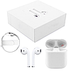 Навушники Apl AirPods 2, Бездротові bluetooth (блютуз) навушники для Iphone (Люкс копія 1в1) з кейсом, Білі, фото 6