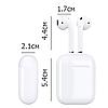 Навушники Apl AirPods 2, Бездротові bluetooth (блютуз) навушники для Iphone (Люкс копія 1в1) з кейсом, Білі, фото 3