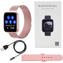 Фітнес браслет трекер Smart Band T99S, Розумні спортивні смарт годинник з мікрофоном для здоров'я,, фото 3