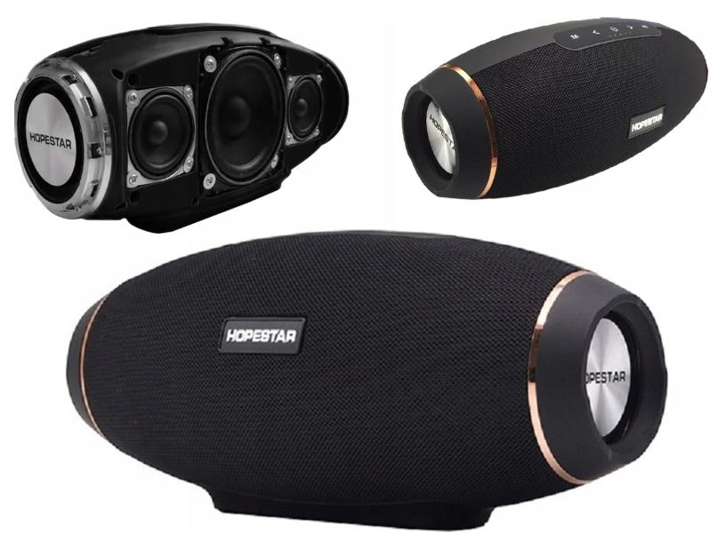 Портативна колонка Hopestar H20, Безпровідна, переносна Bluetooth акустика з мікрофоном, power bank, Mp3