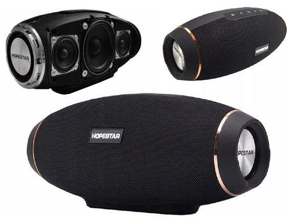 Портативна колонка Hopestar H20, Безпровідна, переносна Bluetooth акустика з мікрофоном, power bank, Mp3, фото 2
