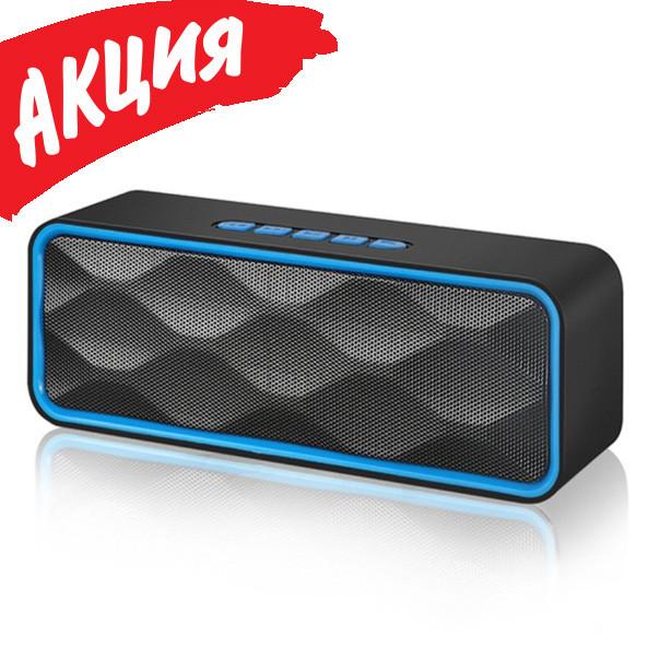 Портативна колонка SC211 Bluetooth, Безпровідна, переносна USB акустика з мікрофоном, Mp3, FM радіо
