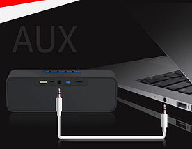 Портативна колонка SC211 Bluetooth, Безпровідна, переносна USB акустика з мікрофоном, Mp3, FM радіо, фото 3