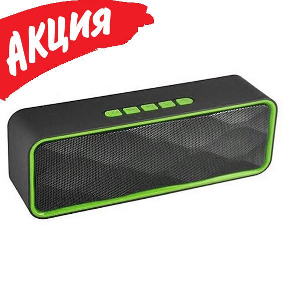 Портативная колонка SC211 Bluetooth, Беспроводная, переносная USB акустика с микрофоном, Mp3, FM радио
