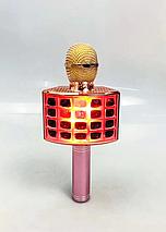 Беспроводной караоке микрофон Wster ws 858 Портативный USB радиомикрофон с изменением голоса светомузыкой, фото 3