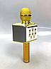 Беспроводной караоке микрофон Wster ws 858 Портативный USB радиомикрофон с изменением голоса светомузыкой, фото 6