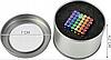 Неокуб 216 шариков 5мм в боксе Магнитные шарики Neocube цветной антистресс конструктор-головоломка никель, фото 3